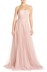 Women's Monique Lhuillier Bridesmaids Strapless Tulle Gown