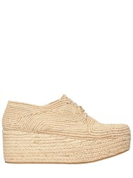 Robert Clergerie 70Mm Pintom Woven Raffia Lace Up Shoes