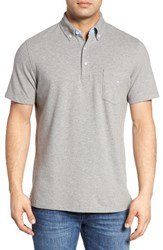 Tailorbyrd Men's Two Tone Pique Polo Heather Grey