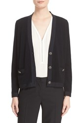 The Kooples Women's Grosgrain Trim Wool And Cashmere Cardigan