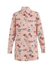 Thorsun Georgie Polynesia Print Cotton Shirt Pink Multi
