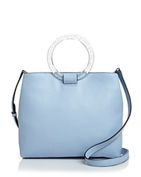 Nasty Gal Ring Master Tote 100 Exclusive Sky Blue Silver