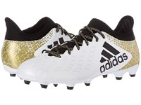 Adidas X 16.3 Fg White Black Gold Metallic Men's Cleated Shoes Gray