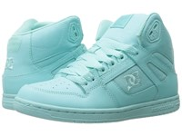 Dc Rebound Hi W Aqua Women's Skate Shoes Blue