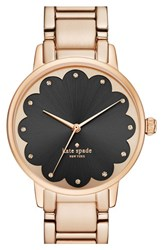 Women's Kate Spade New York 'Gramercy' Scalloped Dial Bracelet And Leather Strap Watch Set 34Mm