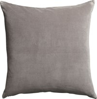 Cb2 Leisure Grey 23'' Pillow With Down Alternative Insert