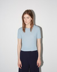 Proenza Schouler Cropped Pullover Sky