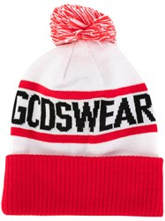 Gcds Knitted Bobble Hat Men Polyester One Size White