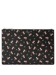 Givenchy Hibiscus Coated Canvas Pouch Black Multi