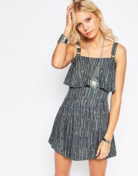 Free People Paper Flower Dress Martini Combo Green