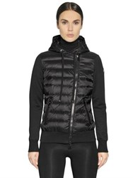 Moncler Quilted Nylon And Heavy Cotton Jacket