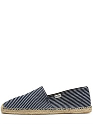 Soludos Striped Cotton Denim Espadrilles