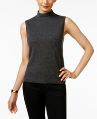 Charter Club Cashmere Mock Turtleneck Shell Only At Macy's Heather Cinder