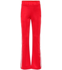 Moncler Cotton Blend Trackpants Red