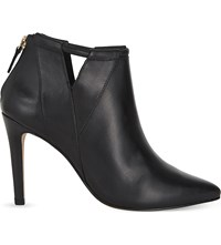 Reiss Nicola Leather Ankle Boots Black