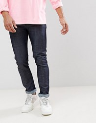 Wesc Alessandro Slim Fit Jeans In Raw Denim Blue