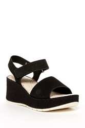 Born Lucee Washed Hook And Loop Sandal Black
