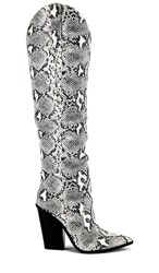 Steve Madden Ranger Boot In Black. Black And White Snake