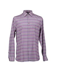 Hardy Amies Shirts Long Sleeve Shirts Men Blue