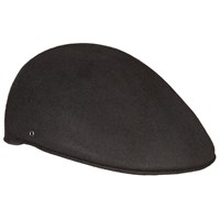 John Lewis Wool Moulded Flat Cap Black