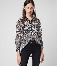 Allsaints Esther Remix Shirt Chalk White