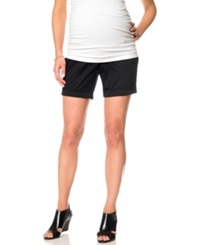 A Pea In The Pod Cuffed Maternity Shorts Black