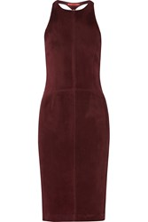 Tamara Mellon Cutout Suede Dress Red