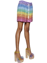 Ashish Sequined Silk Georgette Shorts Multi