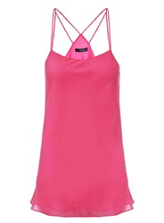 Dorothy Perkins Quiz Pink Chiffon Strappy Top