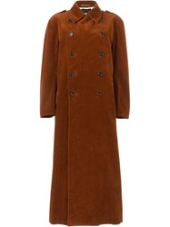 Comme Des Garcons Vintage Long Corduroy Coat Brown