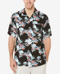Cubavera Men's Retro Tropical Shirt Jet Black