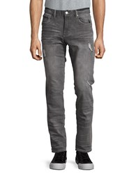 Rwh14 Faded Distressed Jeans Charcoal