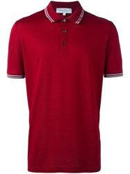 Salvatore Ferragamo Button Front Polo Shirt Red