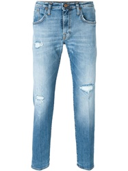 People People Distressed Jeans Blue