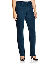Nydj Plus Marilyn Straight Leg Jeans In Studio Teal
