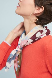 Epice Tuscany Floral Scarf Grey Motif