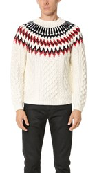 Tomorrowland K Cord Hand Knit Pullover White