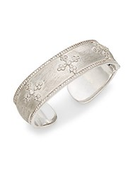 Jude Frances Domed Remington Cross Cuff Bracelet Silver