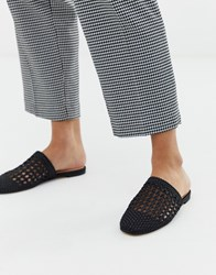 Aldo Slip On Mules Black