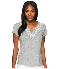 Aventura Clothing Maisie Short Sleeve Top Charcoal Gray