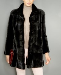 The Fur Vault Mink Jacket Black