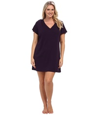 Jockey Cotton Essentials Plus Size Sleepshirt Eggplant Women's Pajama Purple