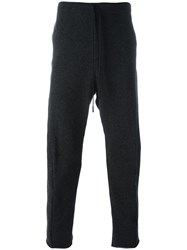Forme D'expression Slouchy Curved Track Pants Grey