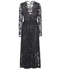 Ganni Flynn Lace Cotton Dress Black