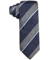 Alfani Men's Tremont Stripe Slim Tie Only At Macy's Silver
