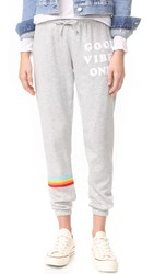 Spiritual Gangster Good Vibes Only Sweatpants Heather Grey