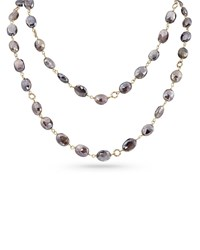 Dominique Cohen 18K Rose Gold Pink Moonstone Long Necklace 42 L