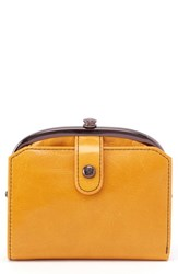 Hobo Tilly Leather Wallet Yellow Amber