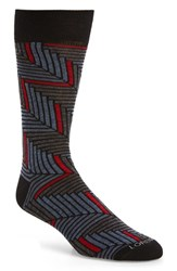 Lorenzo Uomo Men's Angled Herringbone Socks