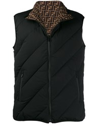 Fendi Quilted Padded Gilet Black